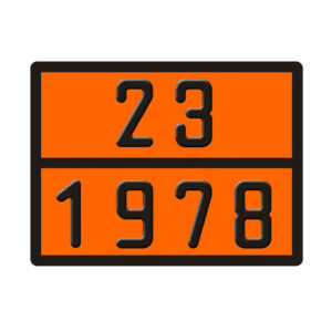 ADR ΠΙΝΑΚΙΔΑ ΑΛΟΥΜΙΝΙΟΥ 23/1978 30X40CM
