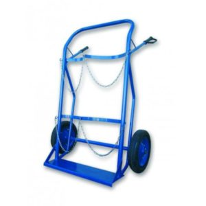 DOUBLE TROLLEY FOR CYLINDERS OXYGEN – PROPANE