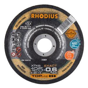 RHODIUS ΔΙΣΚΟΙ ΚΟΠΗΣ INOX XTK 125mm